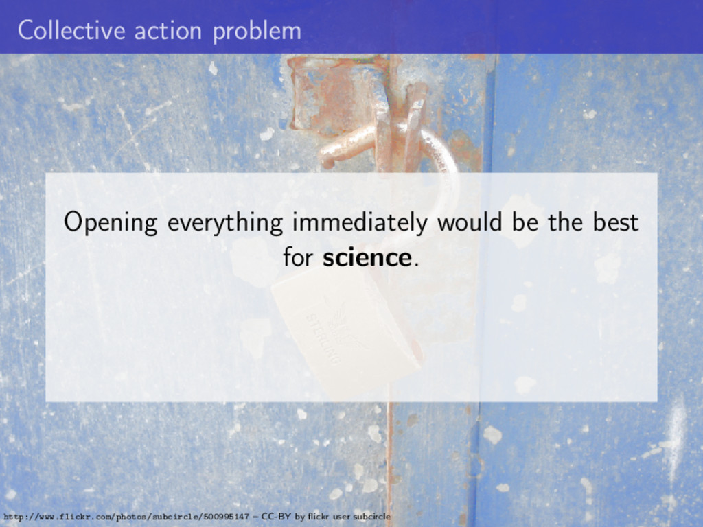 Collective action problem Opening everything im...