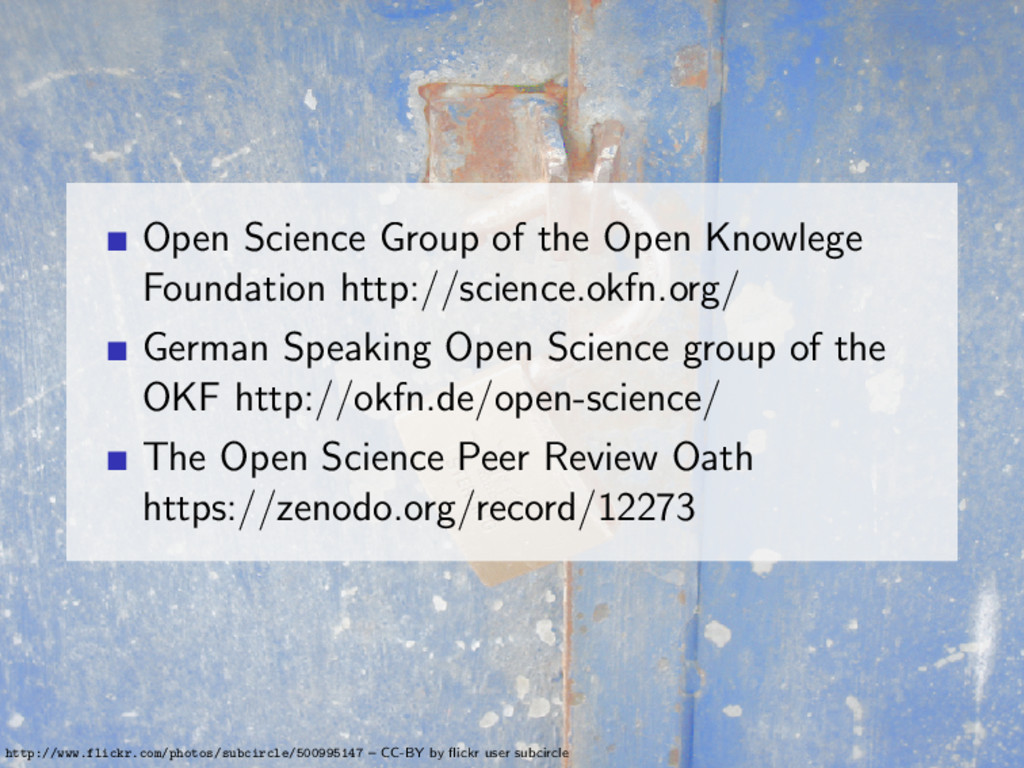 Open Science Group of the Open Knowlege Foundat...