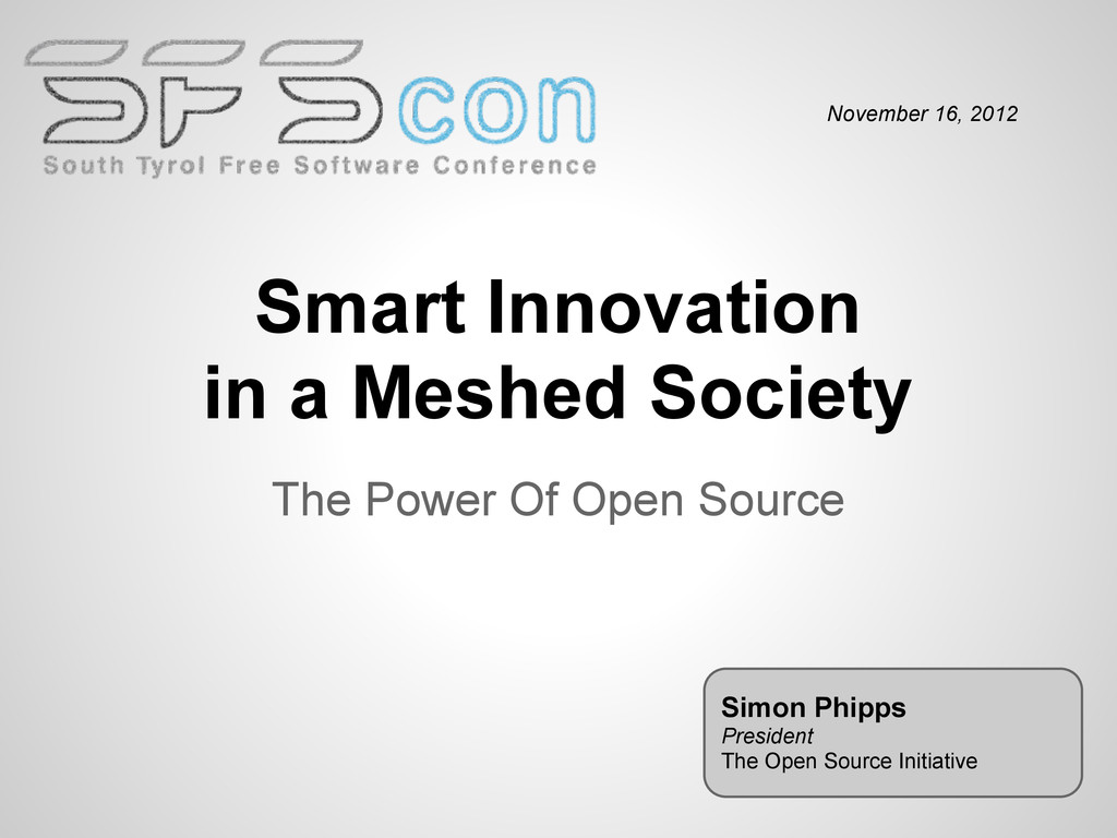 Smart Innovation in a Meshed Society The Power ...
