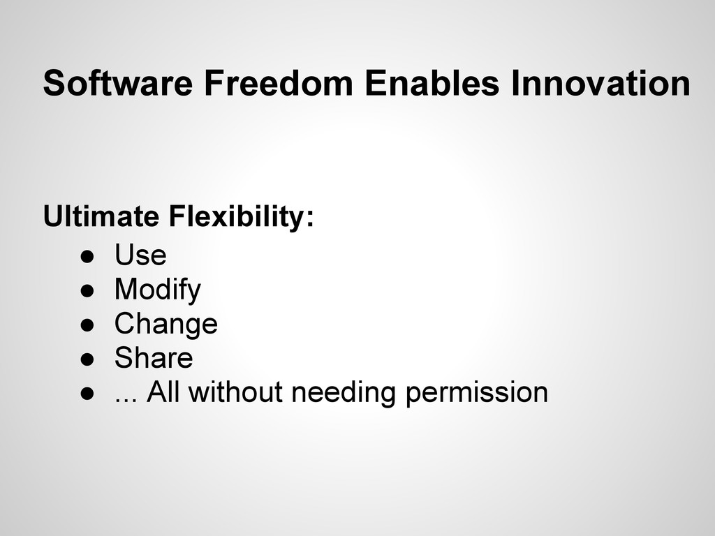 Software Freedom Enables Innovation Ultimate Fl...