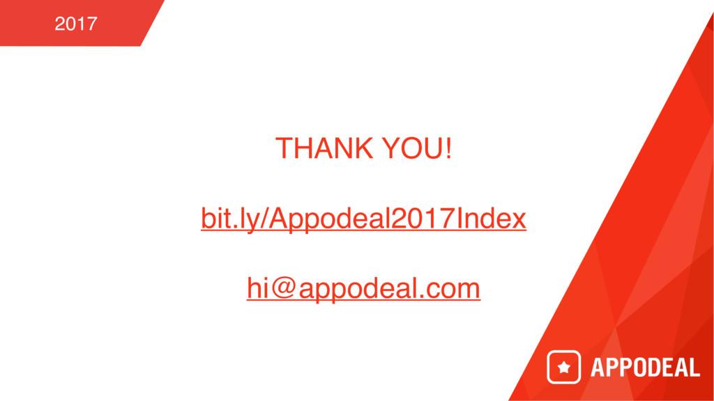 THANK YOU! bit.ly/Appodeal2017Index hi@appodeal...