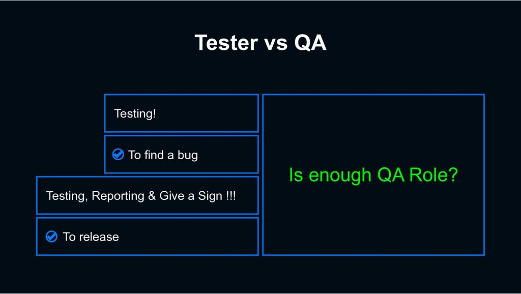 Tester vs QA Is enough QA Role? To release Test...