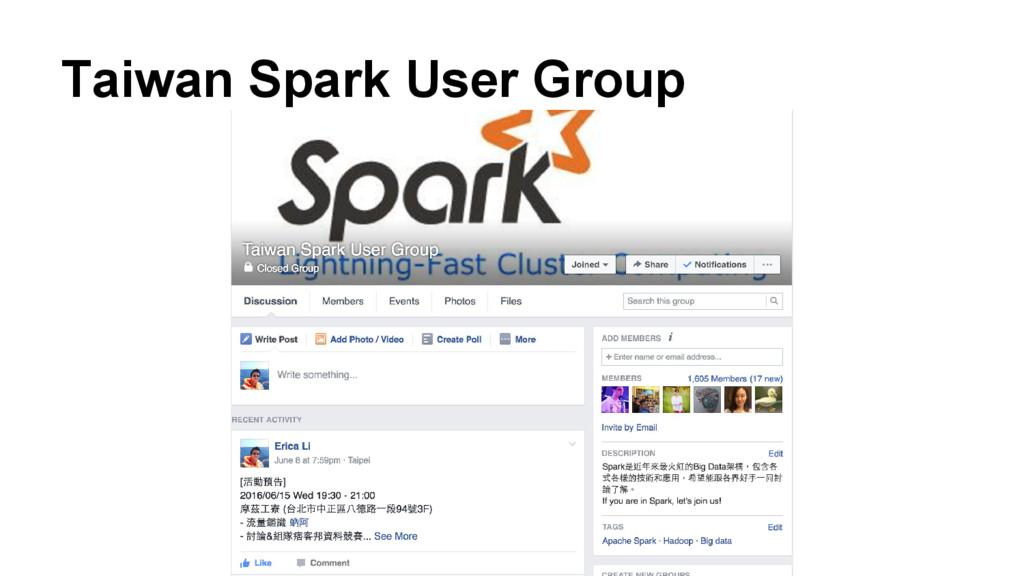 Taiwan Spark User Group