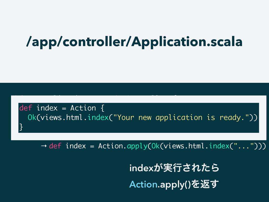 /app/controller/Application.scala object Applic...