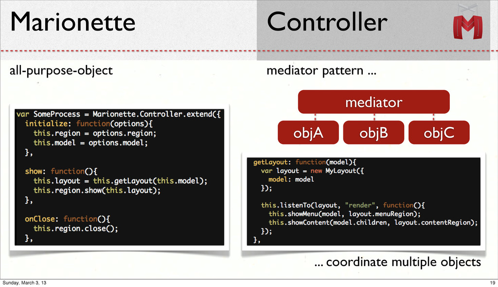 mediator pattern ... Marionette Controller all-...