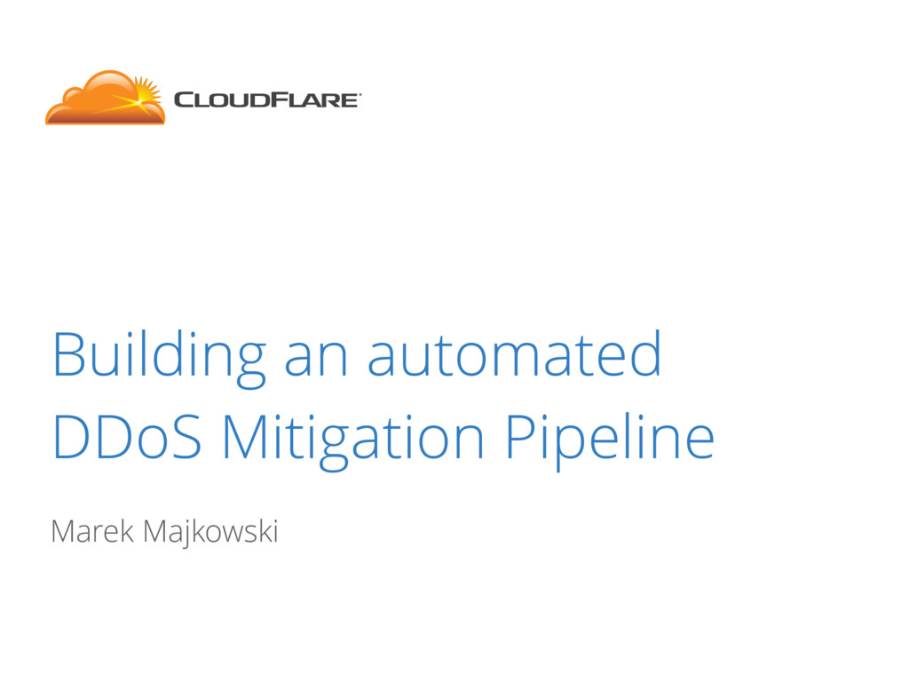 Building an automated DDoS Mitigation Pipeline ...