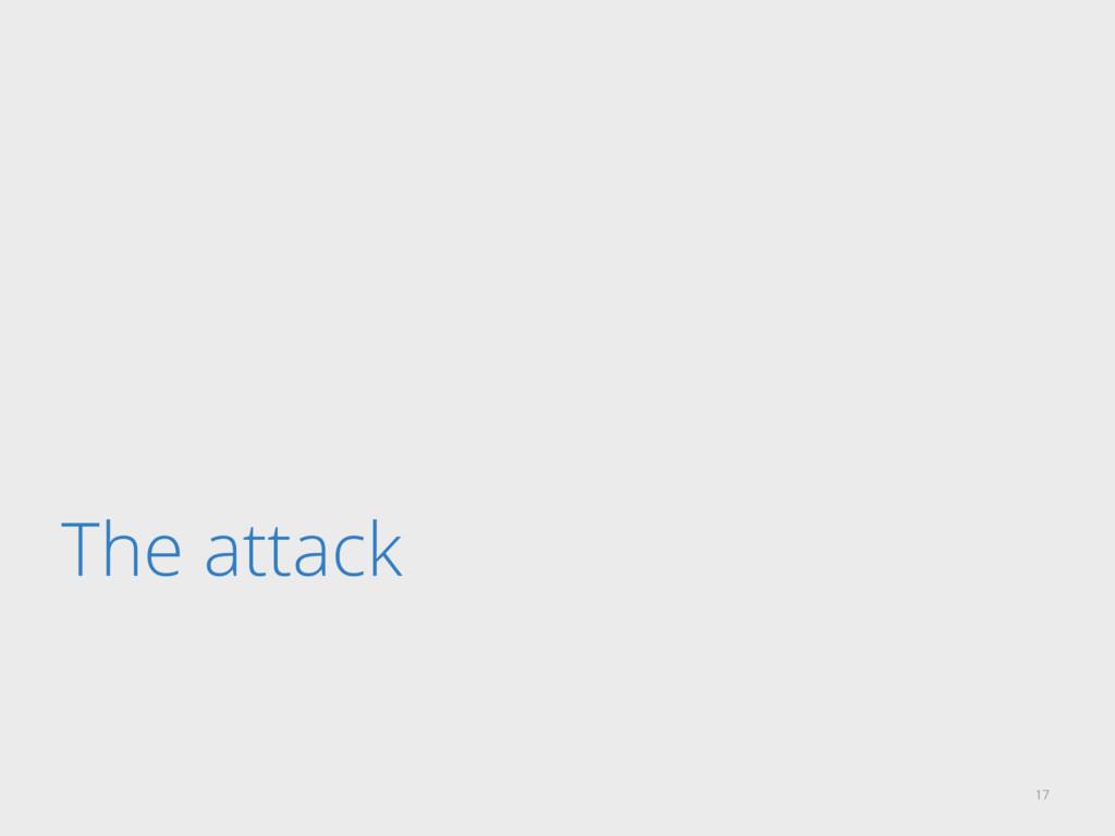 The attack 17