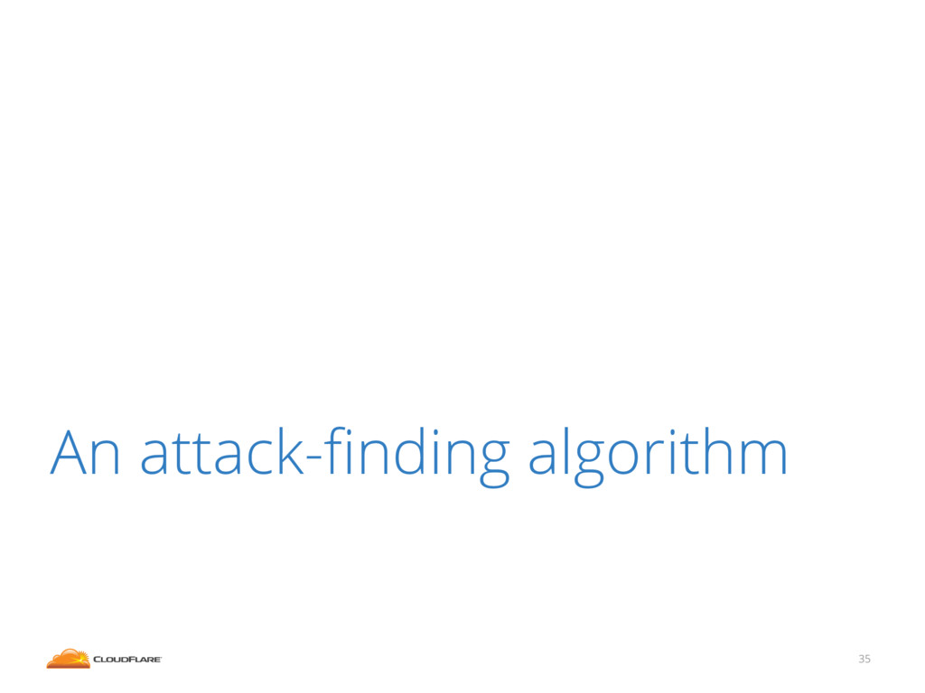 35 An attack-finding algorithm