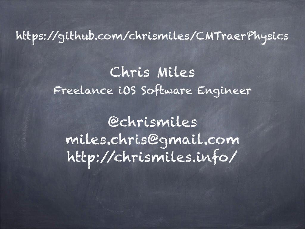 https:/ /github.com/chrismiles/CMTraerPhysics C...