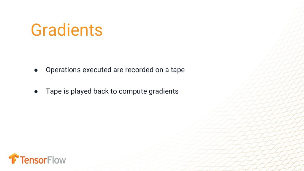 ● Operations executed are recorded on a tape ● ...