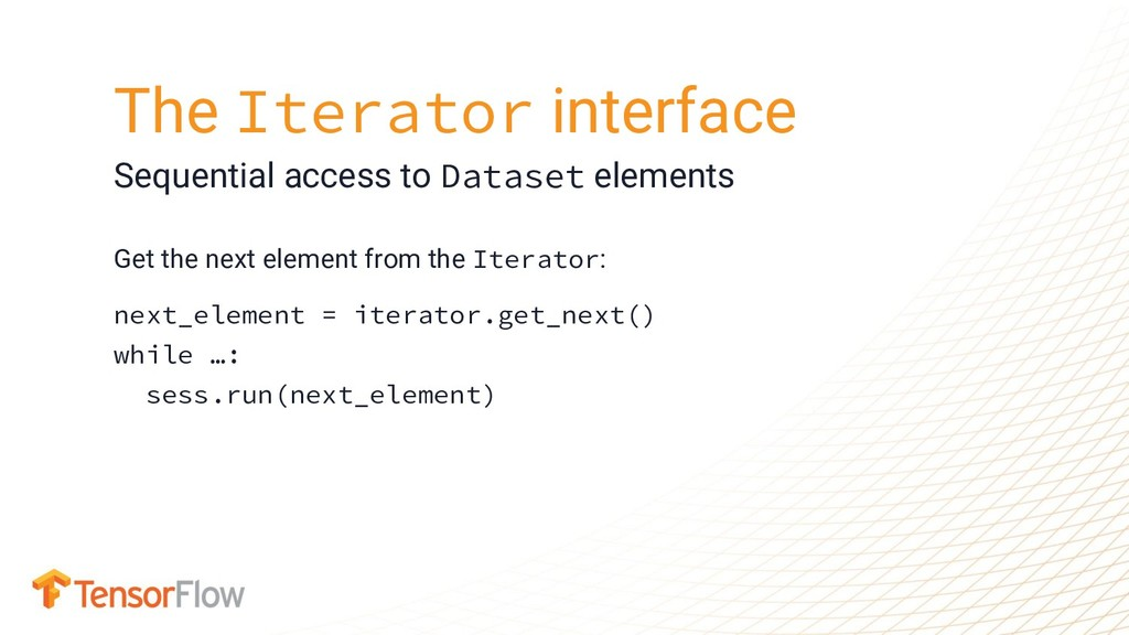 Get the next element from the Iterator: next_el...