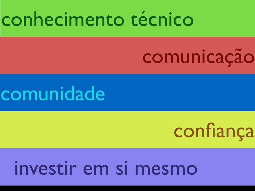 conhecimento técnico confiança comunidade comuni...