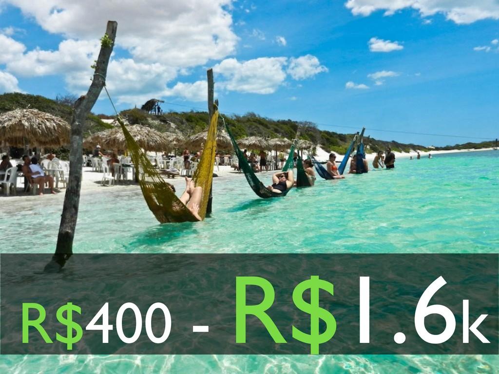 R$400 - R$1.6k