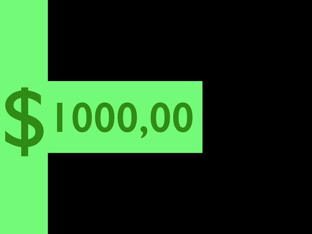 1000,00 $