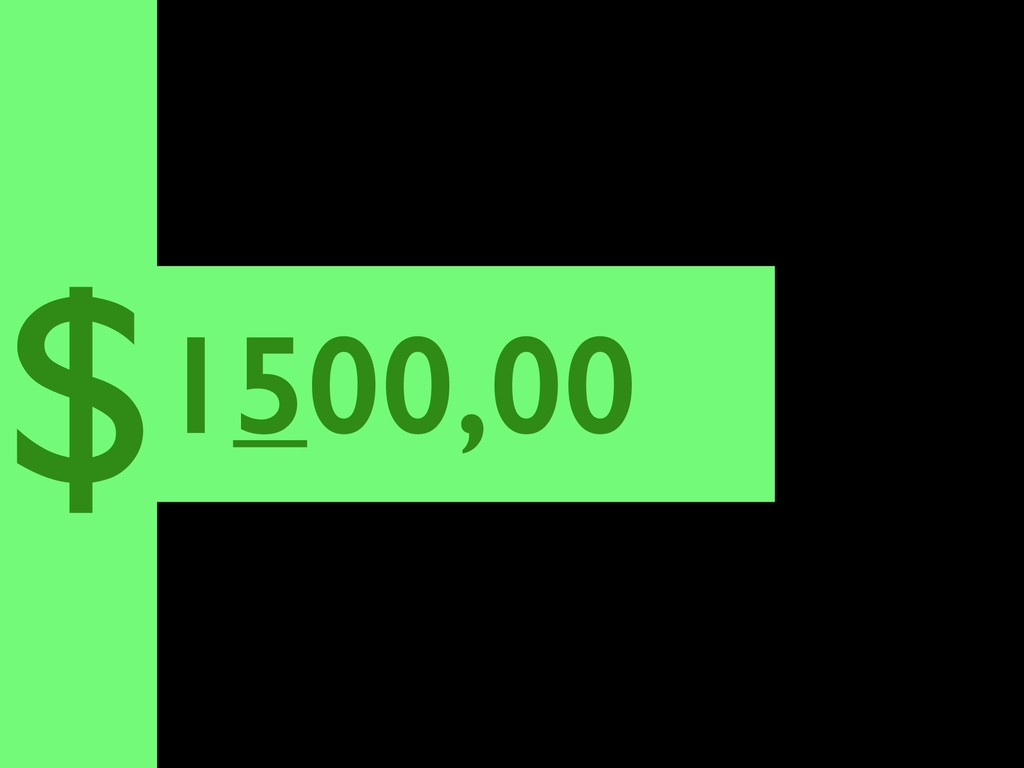1500,00 $