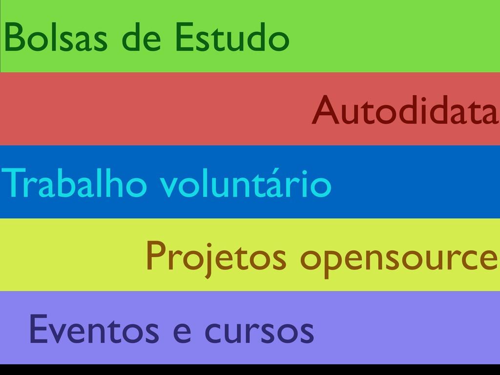 Bolsas de Estudo Projetos opensource Trabalho v...