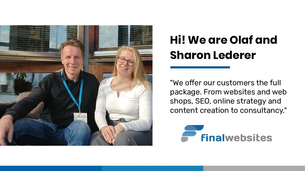 "Hi! We are Olaf and Sharon Lederer ""We offer ou..."