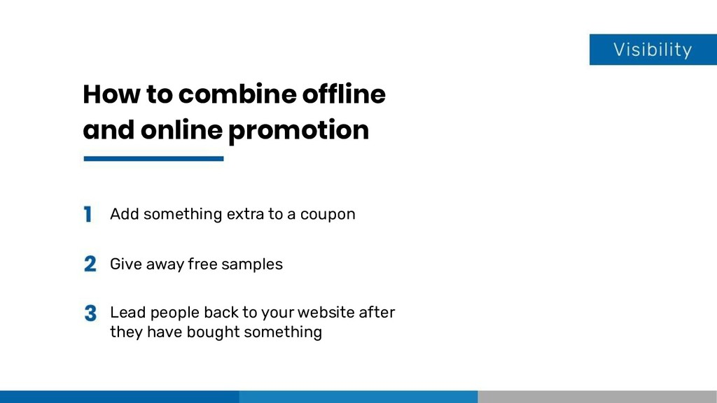 How to combine offline and online promotion Add...