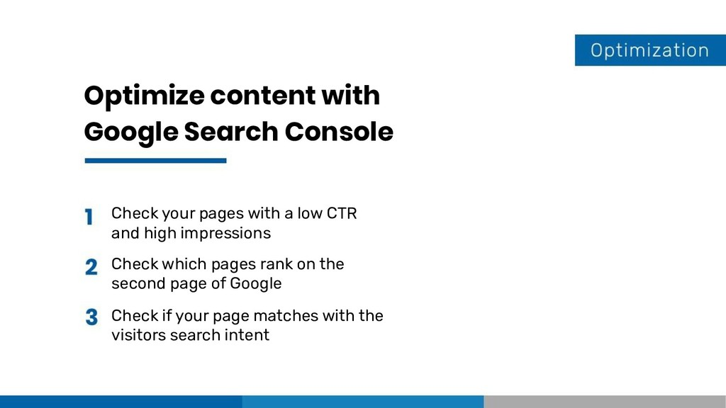 Optimize content with Google Search Console Che...