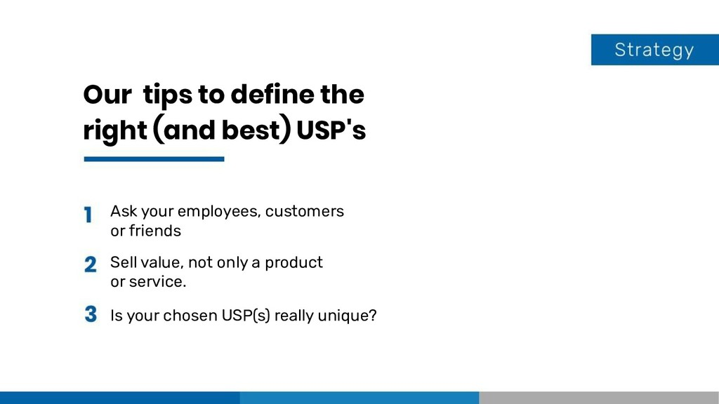 Our tips to define the right (and best) USP's A...