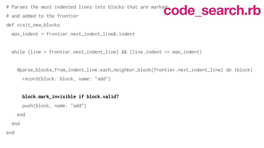 # Parses the most indented lines into blocks th...