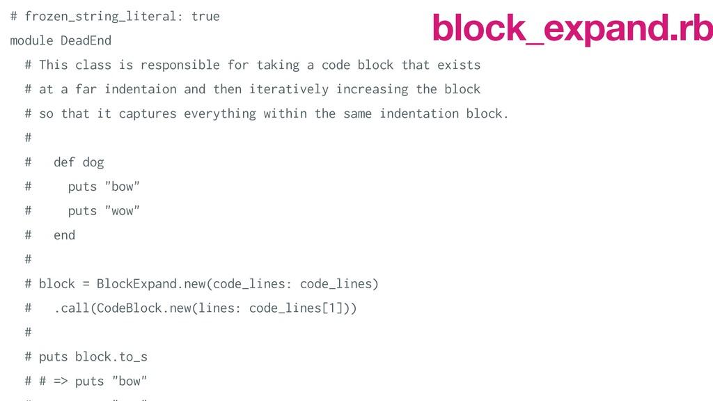 # frozen_string_literal: true   module DeadEnd ...