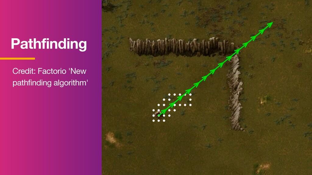 Pathfinding Credit: Factorio 'New pathfinding a...
