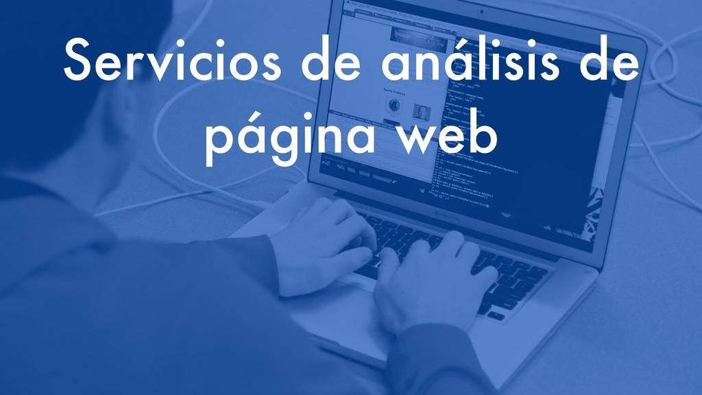 Servicios de análisis de página web