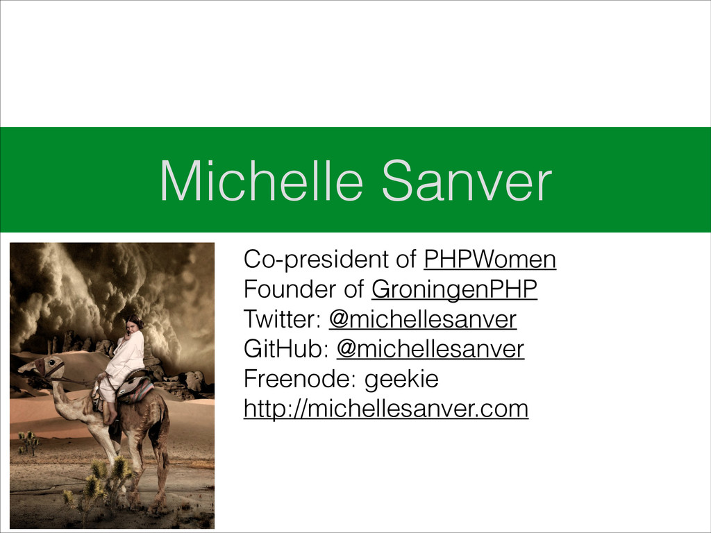 Michelle Sanver Co-president of PHPWomen Founde...