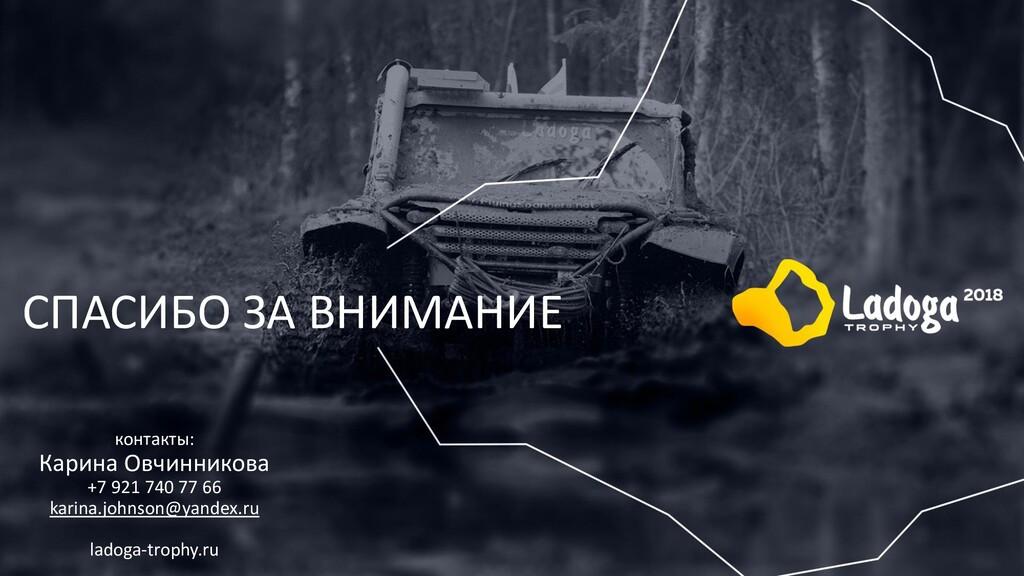 СПАСИБО ЗА ВНИМАНИЕ контакты: Карина Овчинников...