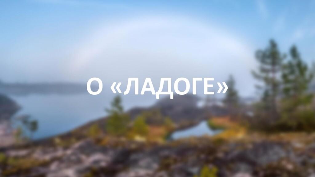 О «ЛАДОГЕ»