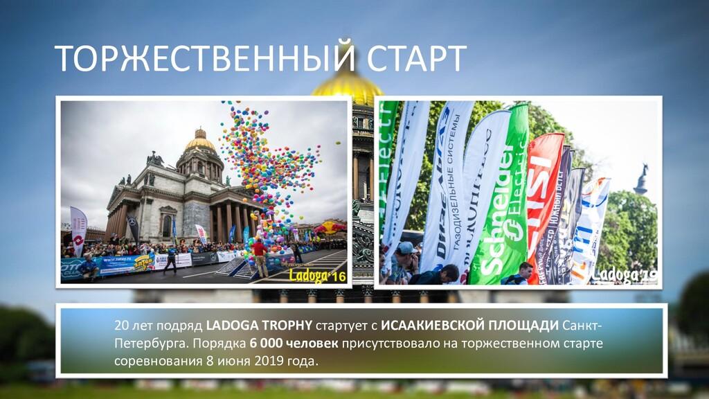 ТОРЖЕСТВЕННЫЙ СТАРТ 20 лет подряд LADOGA TROPHY...