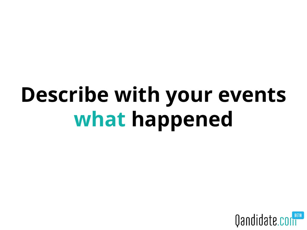 Describe with your events what happened