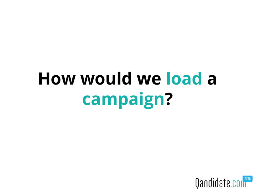 How would we load a campaign?
