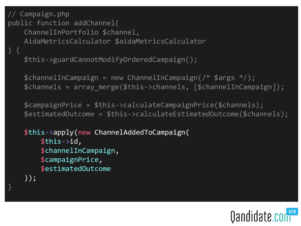 // Campaign.php public function addChannel( Cha...