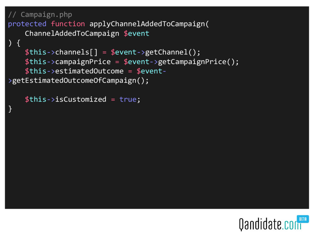 // Campaign.php protected function applyChannel...