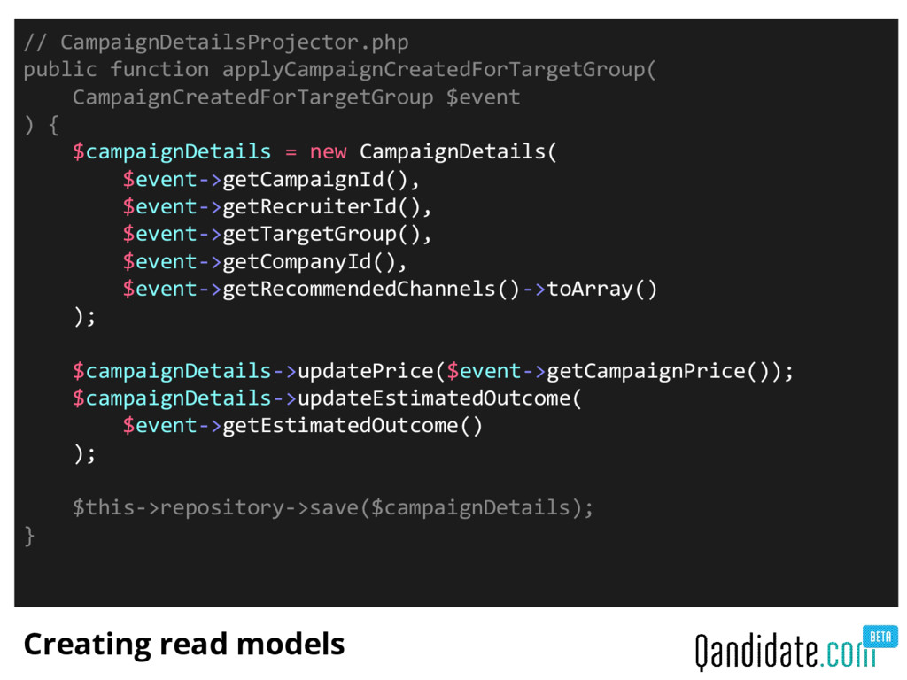 Creating read models // CampaignDetailsProjecto...