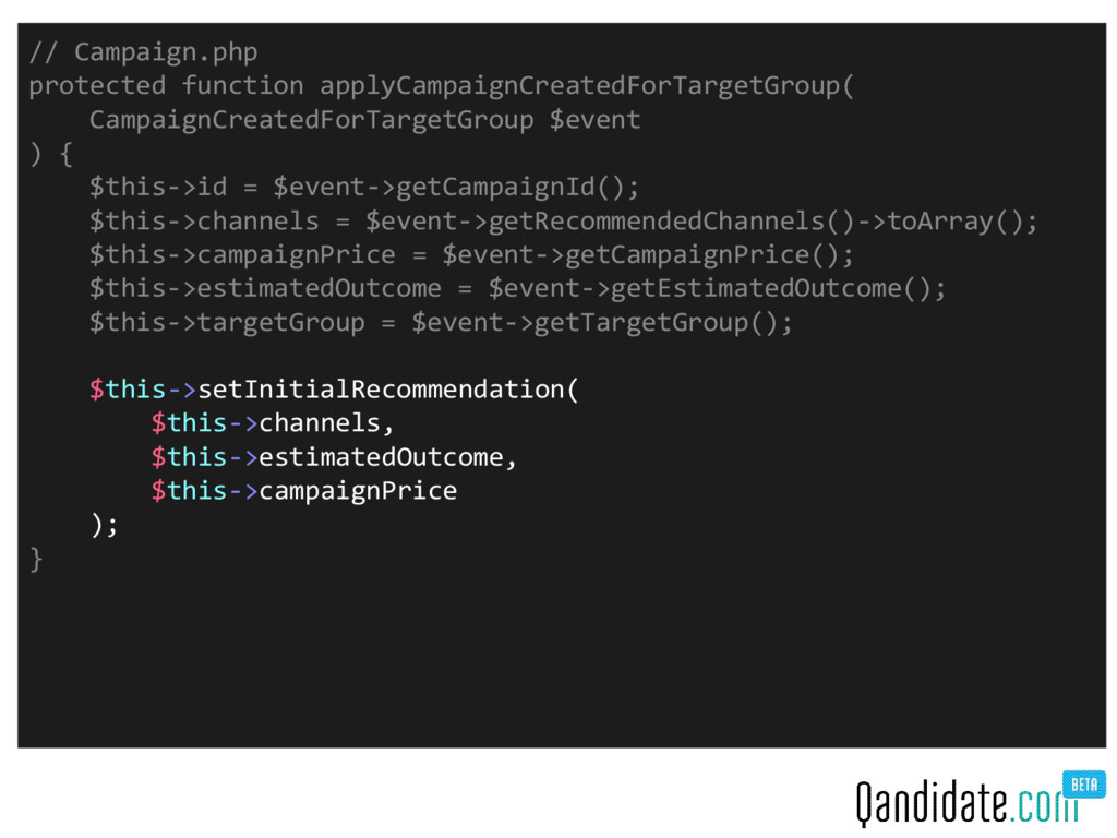 // Campaign.php protected function applyCampaig...