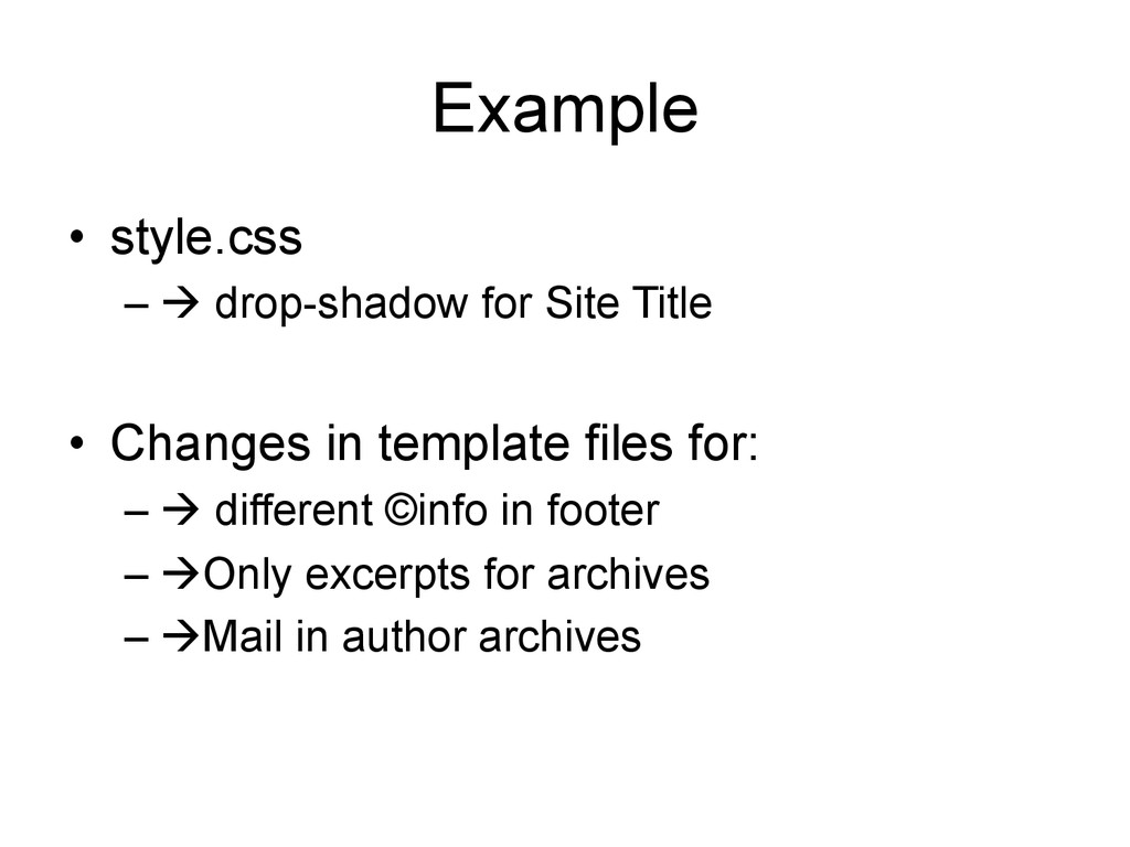 Example • style.css –! drop-shadow for Site T...