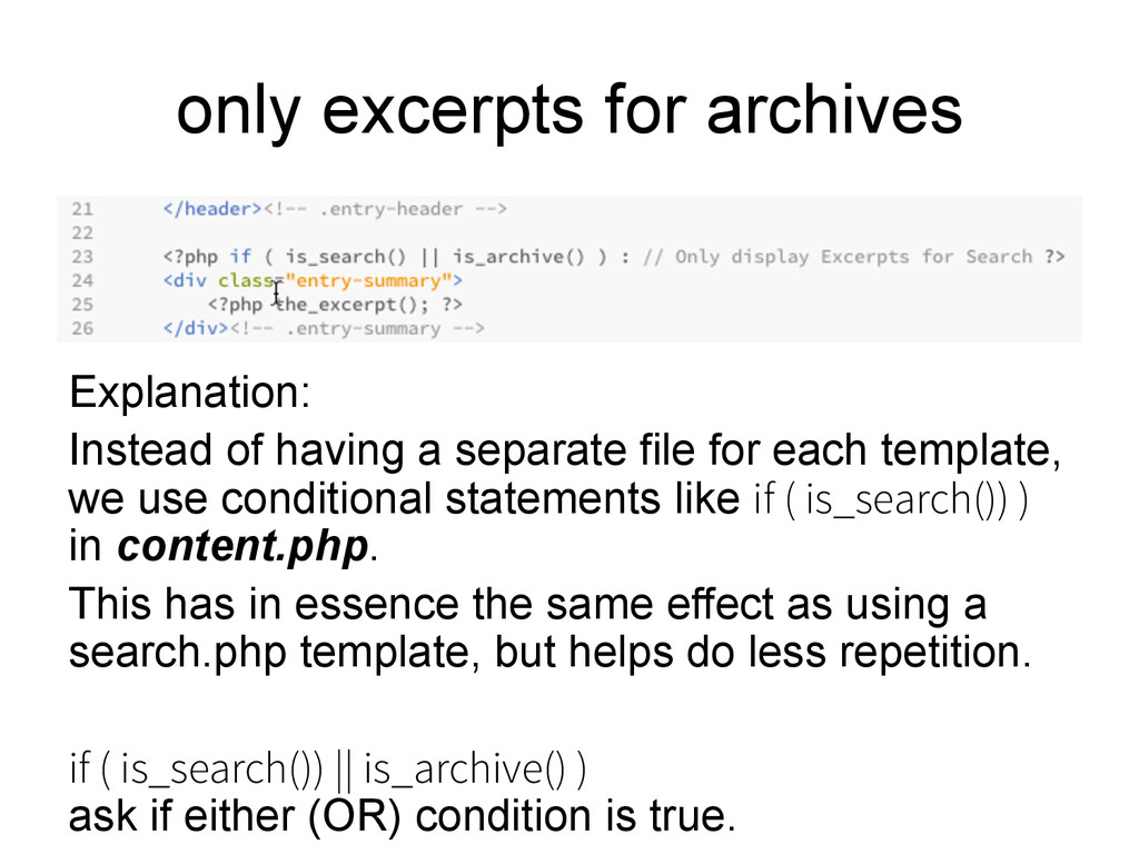 only excerpts for archives Explanation: Instead...
