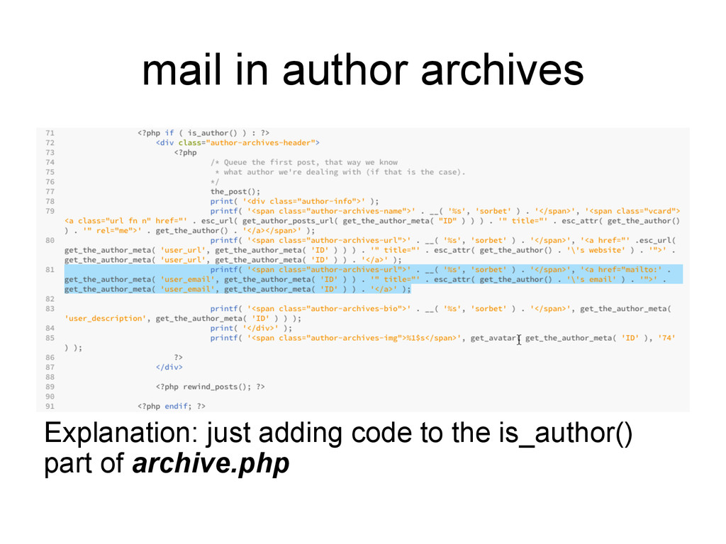mail in author archives Explanation: just addin...