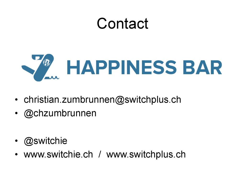 Contact • christian.zumbrunnen@switchplus.ch •...