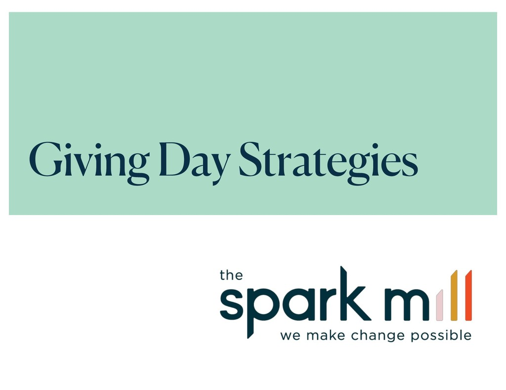 Giving Day Strategies