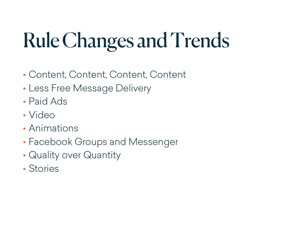 Rule Changes and Trends • Content, Content, Con...