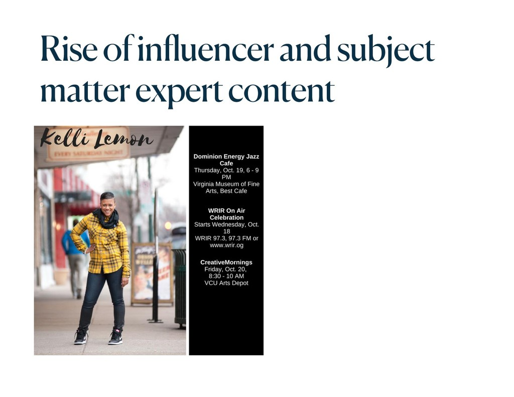 Rise of influencer and subject matter expert co...