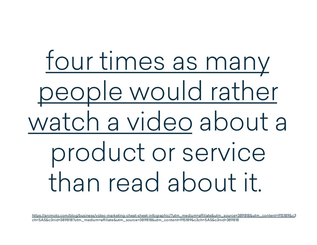 four times as many people would rather watch a ...