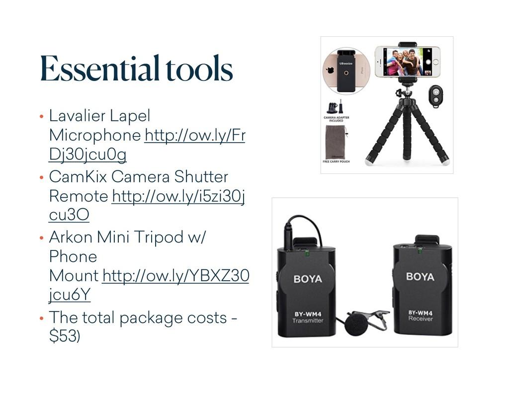 Essential tools • Lavalier Lapel Microphone htt...