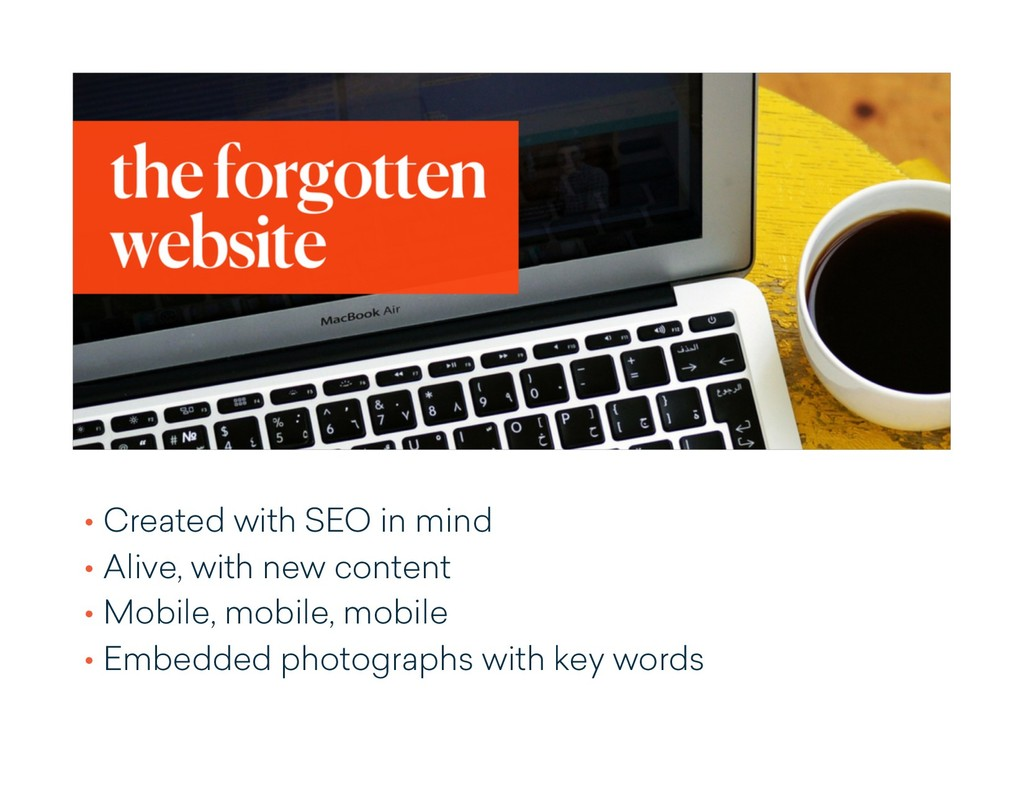 • Created with SEO in mind • Alive, with new co...