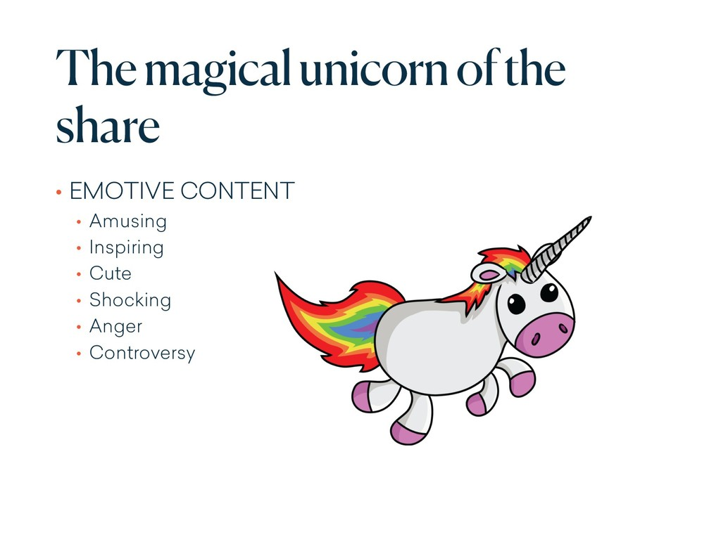 The magical unicorn of the share • EMOTIVE CONT...