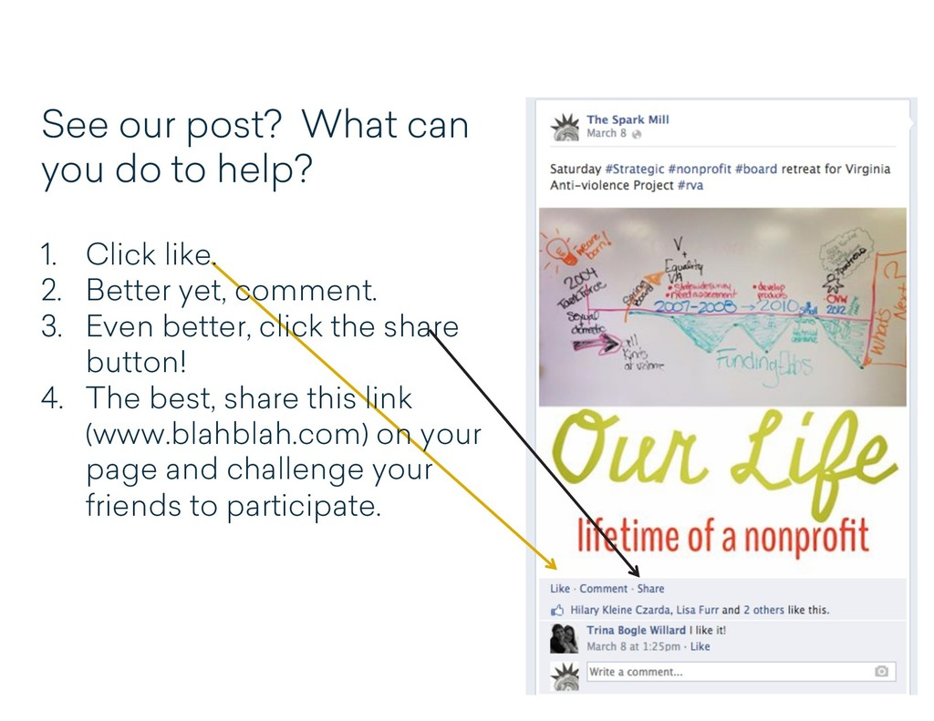 See our post? What can you do to help? 1. Click...